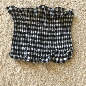 SHEIN Checkered ruched tube top very stretchy